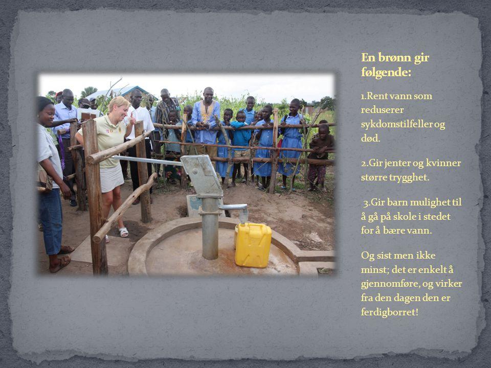 1.Rent vann som reduserer sykdomstilfeller og død.