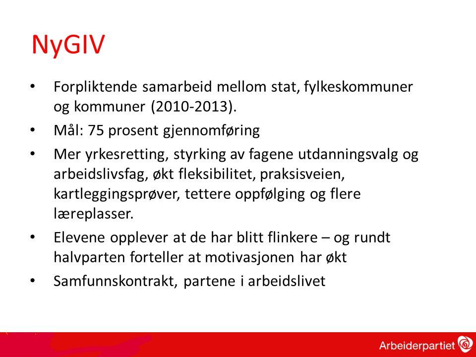 • Forpliktende samarbeid mellom stat, fylkeskommuner og kommuner (2010-2013).