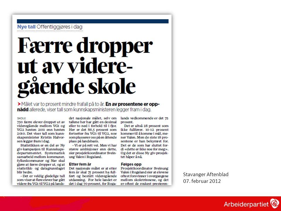 Stavanger Aftenblad 07. februar 2012
