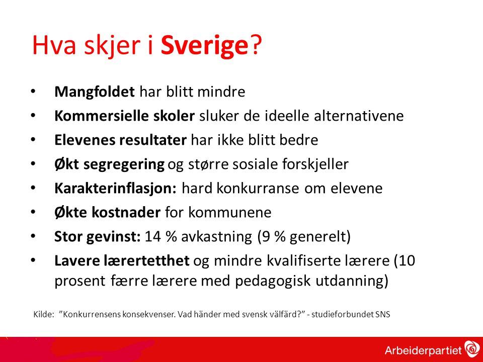 Hva skjer i Sverige.