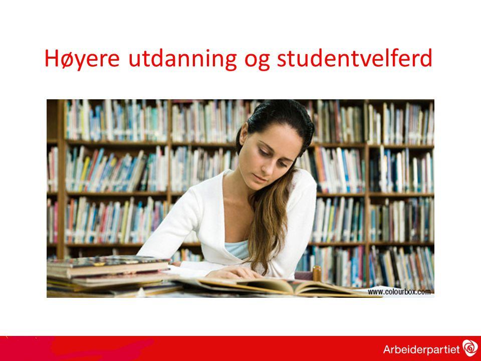 Høyere utdanning og studentvelferd