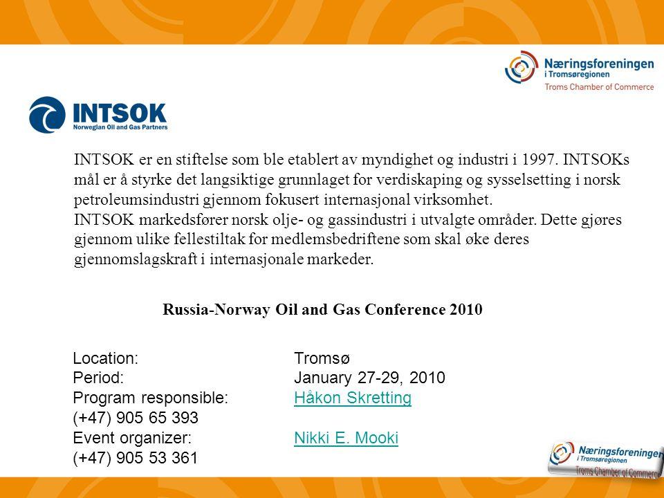 INTSOK er en stiftelse som ble etablert av myndighet og industri i 1997.