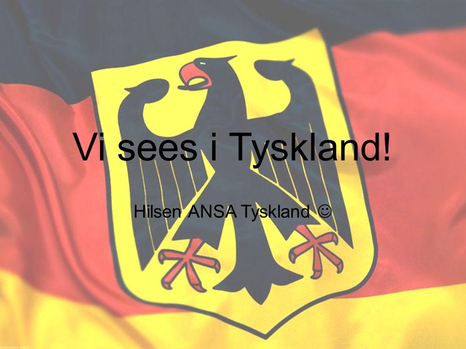 Vi sees i Tyskland! Hilsen ANSA Tyskland 