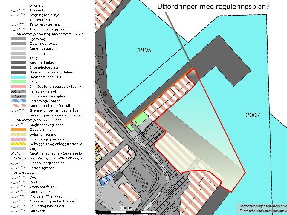 Utfylling 100.000 m3 gir 15 mål nytt havne- og sentrumsareal Muligheter -Utmerket ny ny terminalløsning -Busstorvet frigjøres til andre formål -Utmerket løsning for hurtigbåtene -Utmerket løsning for gjestehavnen -Utmerket løsning for mottak av cruiseskip samtidig med normal drift -Utmerket løsning for kombinasjonen gods/passasjerer -Plass til nye kontor-/ forretningsbygg (KN f eks) -Havnas behov dekket i et 50-100 års perspektiv Fremtidsrettet løsning