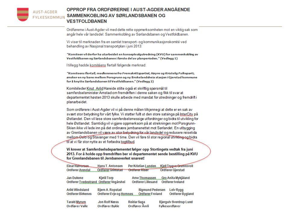 Felles fylkesutvalg støtter tilsvarende krav om Kvu.