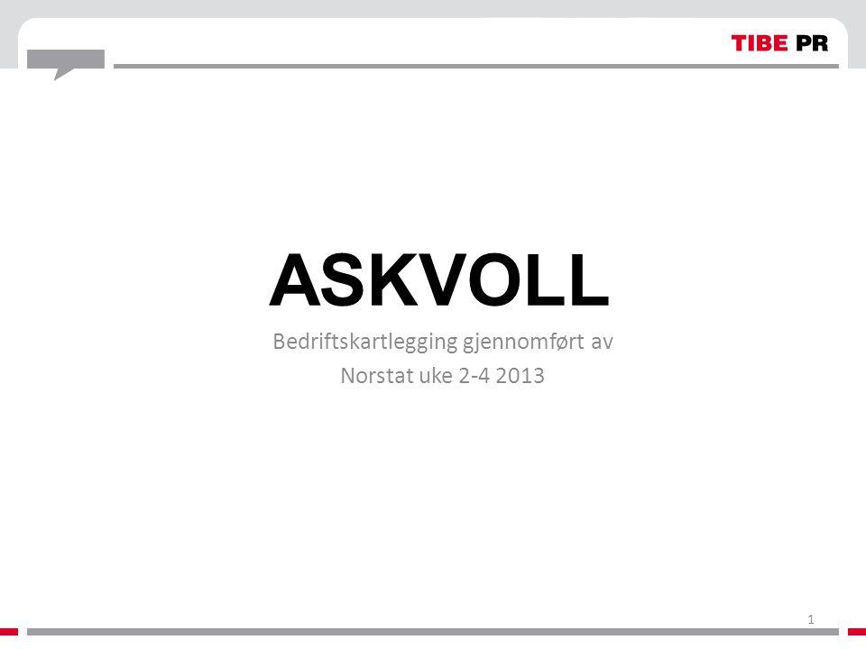 ASKVOLL Bedriftskartlegging gjennomført av Norstat uke 2-4 2013 1
