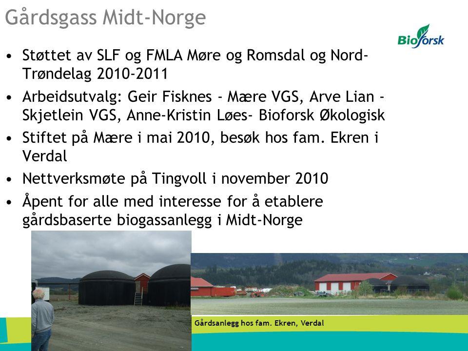Gårdsgass Midt-Norge •Støttet av SLF og FMLA Møre og Romsdal og Nord- Trøndelag 2010-2011 •Arbeidsutvalg: Geir Fisknes - Mære VGS, Arve Lian - Skjetle