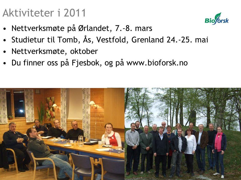 •Nettverksmøte på Ørlandet, 7.-8. mars •Studietur til Tomb, Ås, Vestfold, Grenland 24.-25. mai •Nettverksmøte, oktober •Du finner oss på Fjesbok, og p