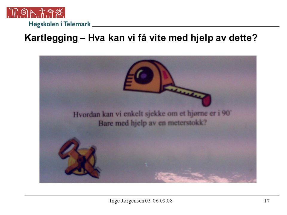 Inge Jørgensen 05-06.09.0817 Kartlegging – Hva kan vi få vite med hjelp av dette?
