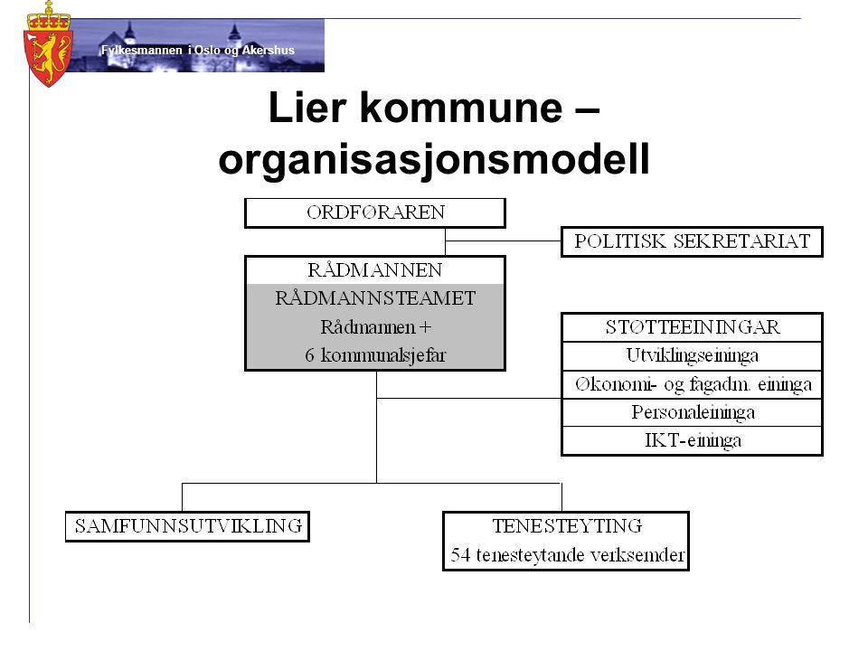 Fylkesmannen i Oslo og Akershus Lier kommune – organisasjonsmodell