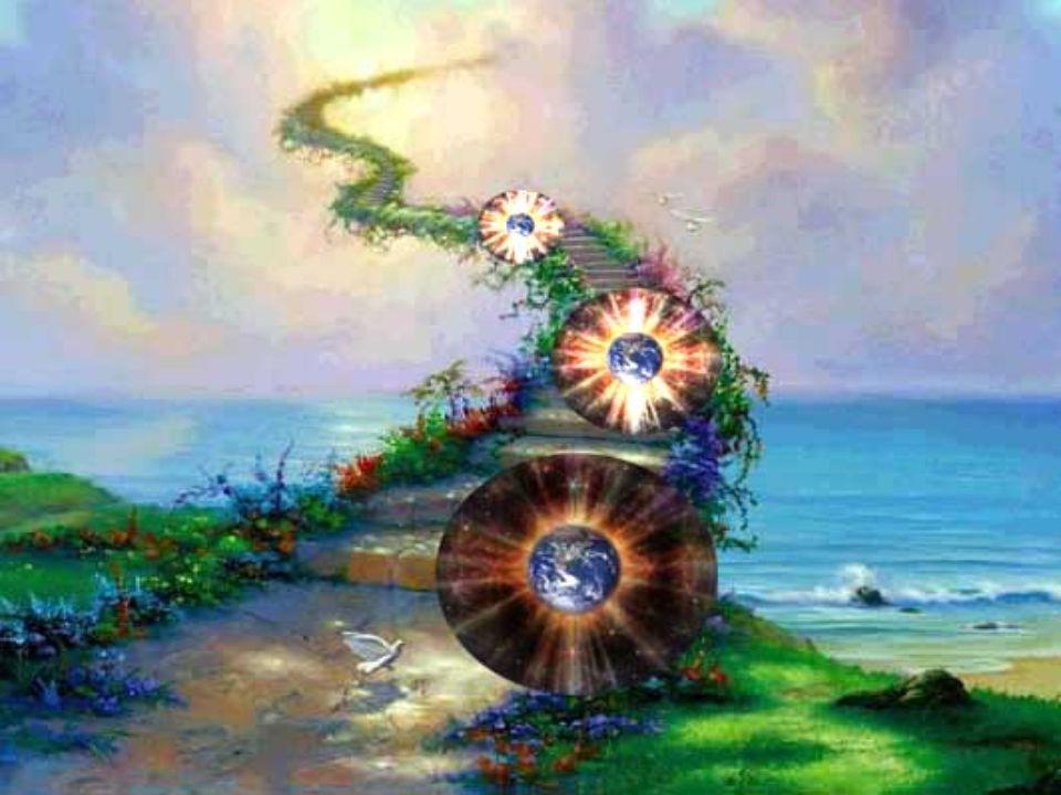 Vi astralreiser – eller med flyvebeltet – litt rundt om på planeten og møter grupper av mennesker som også svever over denne harmoniske verden Andre vesener vi møter er bare som Lysvesner -