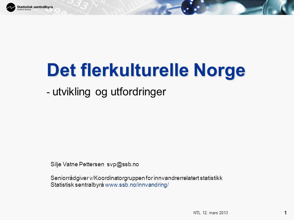 NTL 12.mars 2013 32 Høyeste oppnådde utdanningsnivå.