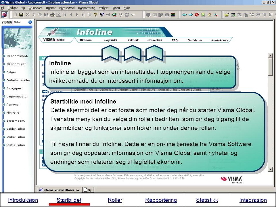 IntroduksjonStartbildetRollerRapporteringStatistikkIntegrasjon Infoline På forsiden av Infoline finner du de ferskeste og viktigste nyhetene.