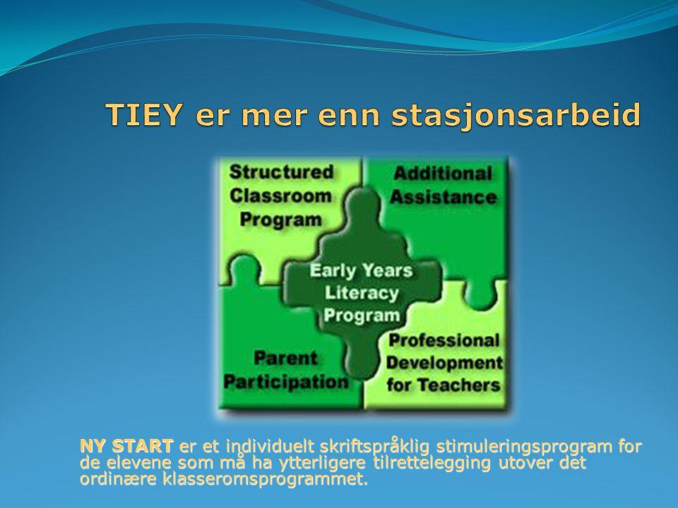 NY START er et individuelt skriftspråklig stimuleringsprogram for de elevene som må ha ytterligere tilrettelegging utover det ordinære klasseromsprogrammet.