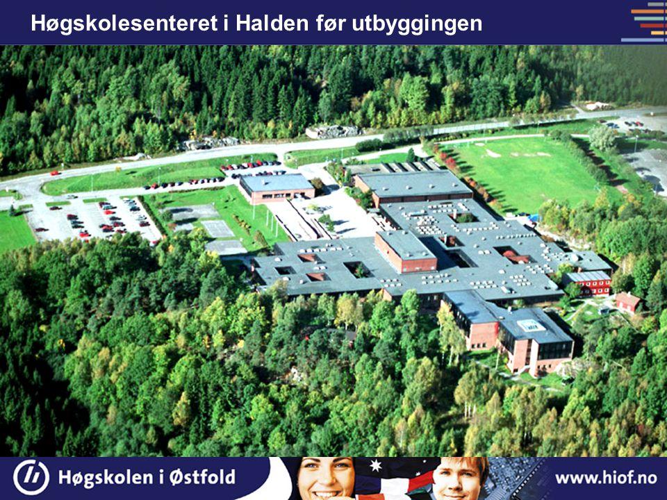 Høgskolesenteret i Halden før utbyggingen