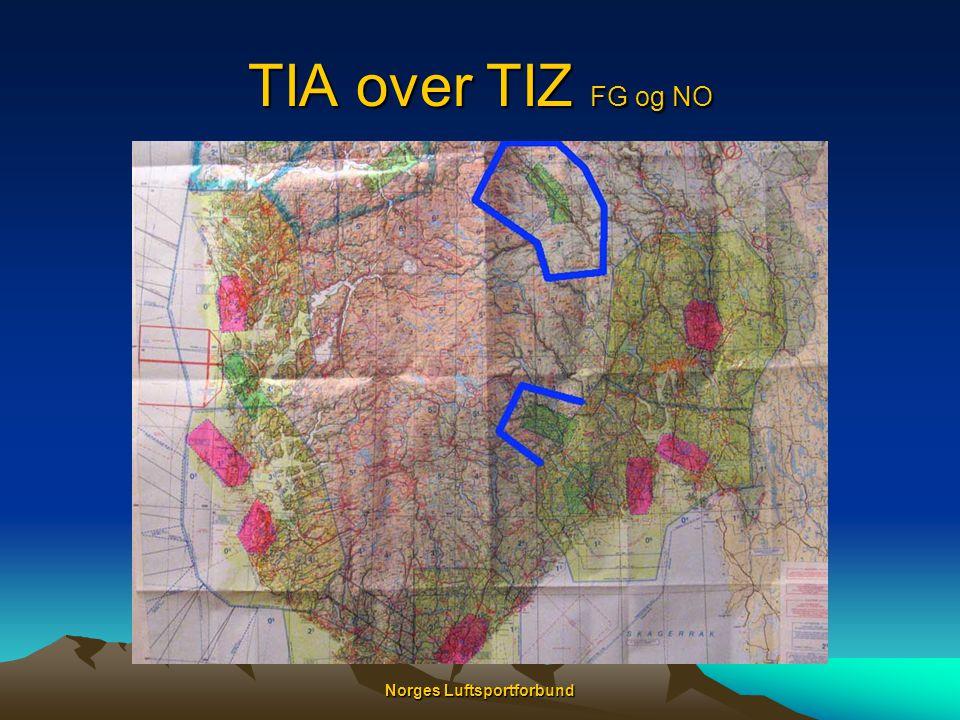 Norges Luftsportforbund TIA over TIZ FG og NO