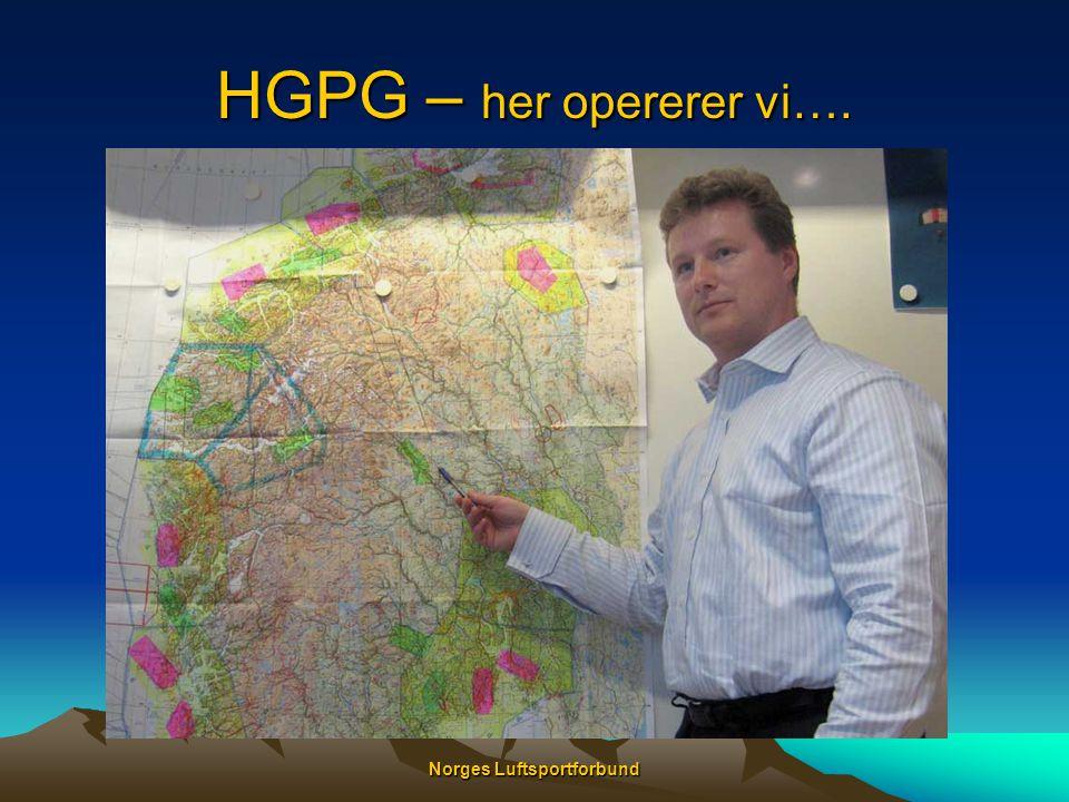 Norges Luftsportforbund HGPG – her opererer vi….