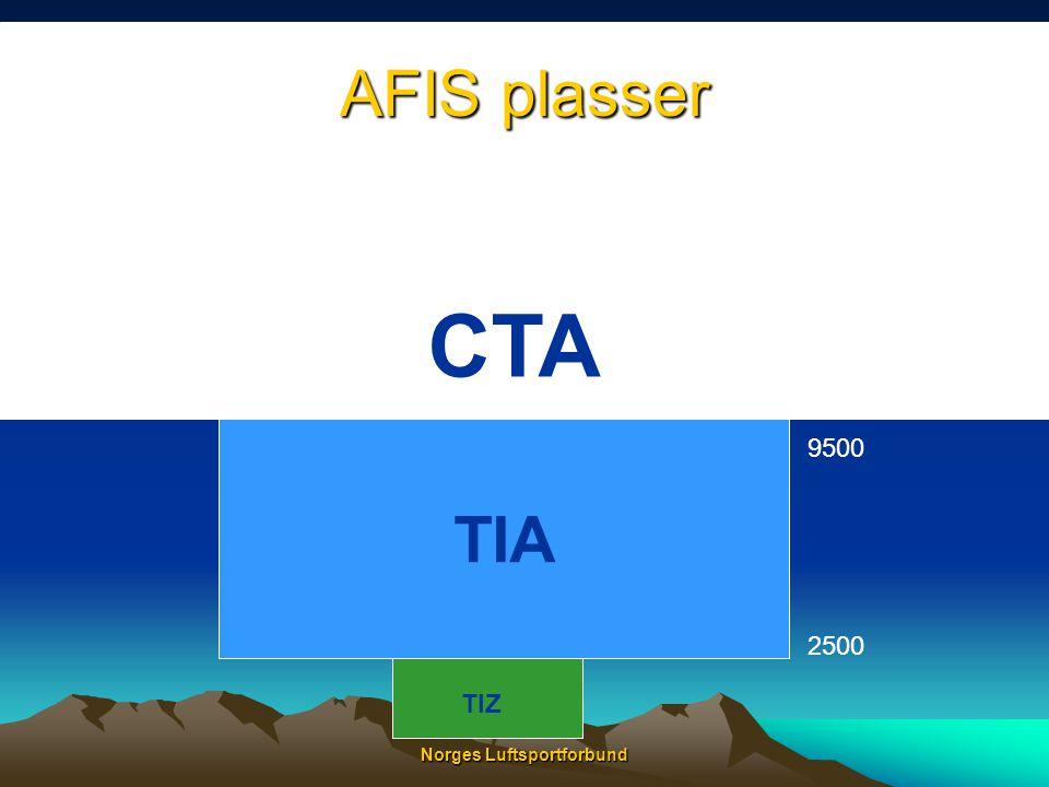 Norges Luftsportforbund TIA går ned i terrenget TIA •TIA går ned i terrenget mange steder, og det er ikke mulig å få radiokontakt med Stavanger i de nedre delen av TMA'en.