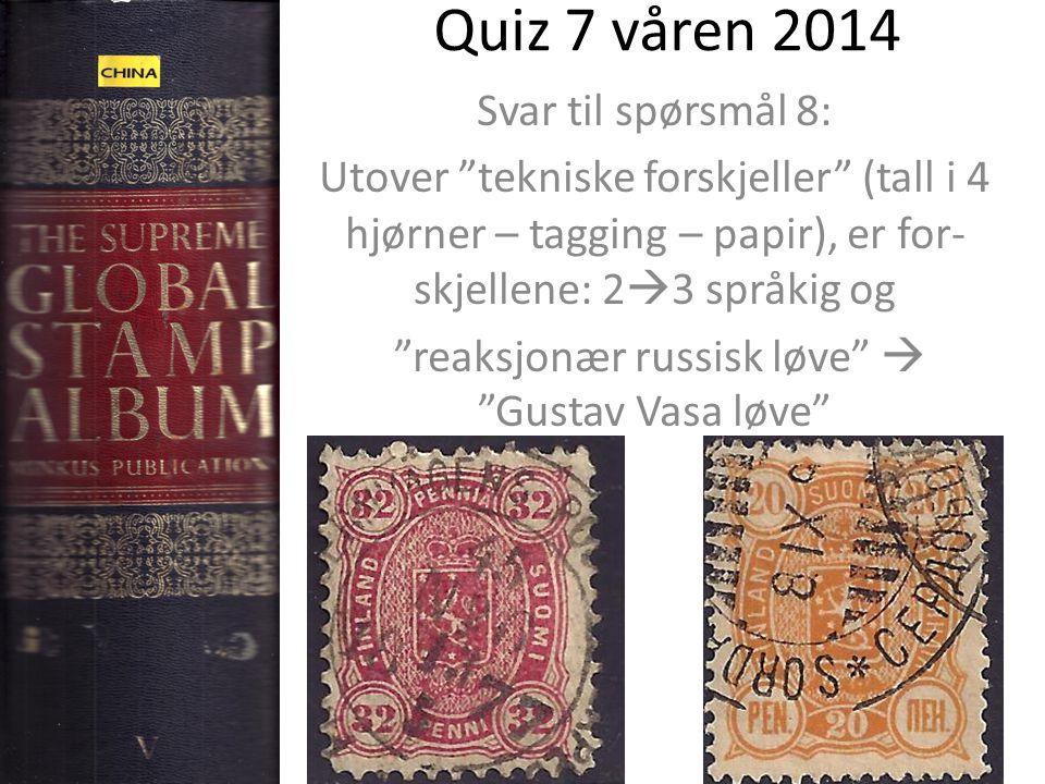 """Quiz 7 våren 2014 Svar til spørsmål 8: Utover """"tekniske forskjeller"""" (tall i 4 hjørner – tagging – papir), er for- skjellene: 2  3 språkig og """"reaksj"""
