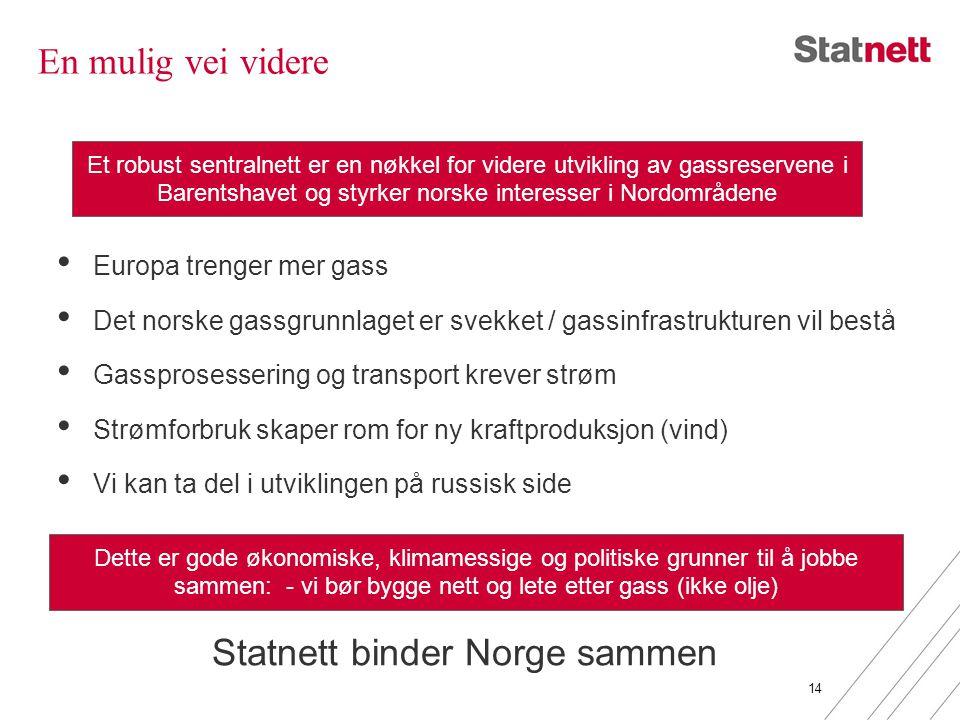En mulig vei videre • Europa trenger mer gass • Det norske gassgrunnlaget er svekket / gassinfrastrukturen vil bestå • Gassprosessering og transport k