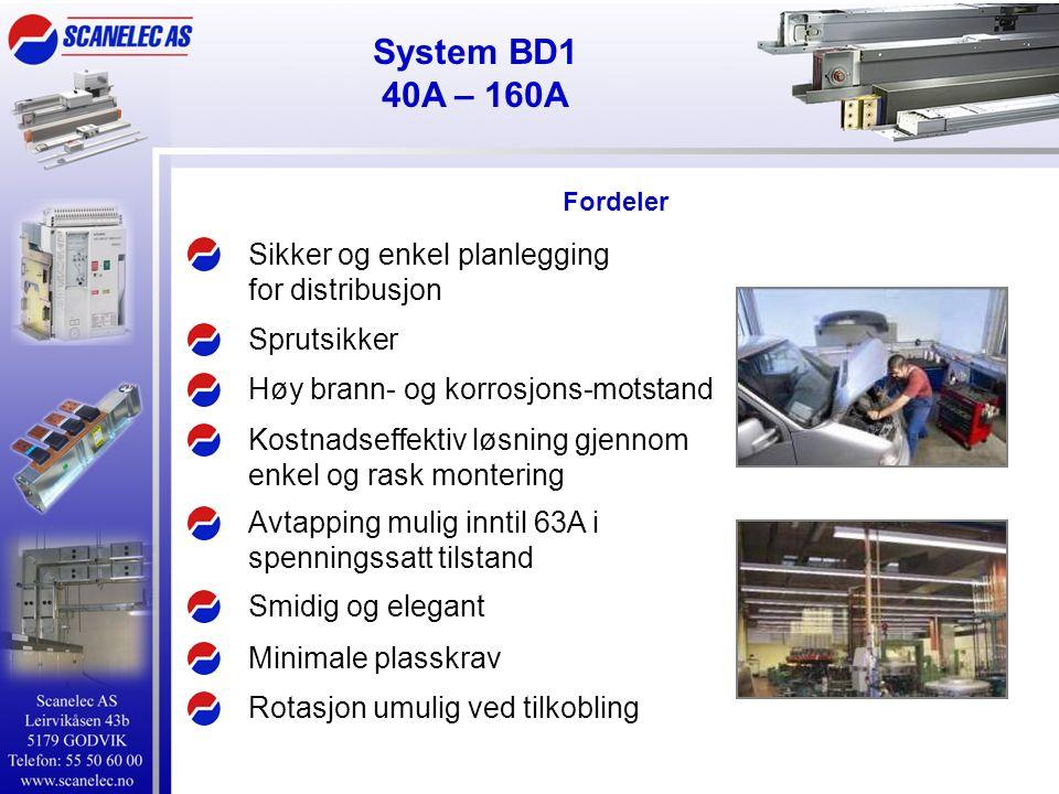 Fordeler Sikker og enkel planlegging for distribusjon Sprutsikker Høy brann- og korrosjons-motstand Kostnadseffektiv løsning gjennom enkel og rask mon