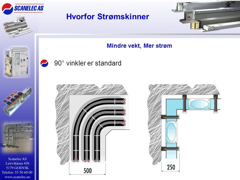 Hvorfor Strømskinner De 3 fasene har lik lengde, strømmene er balansert Mindre vekt, Mer strøm
