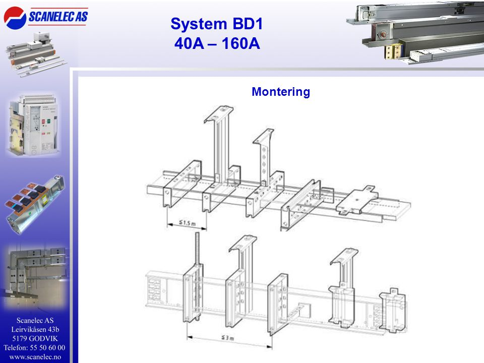 Montering System BD1 40A – 160A
