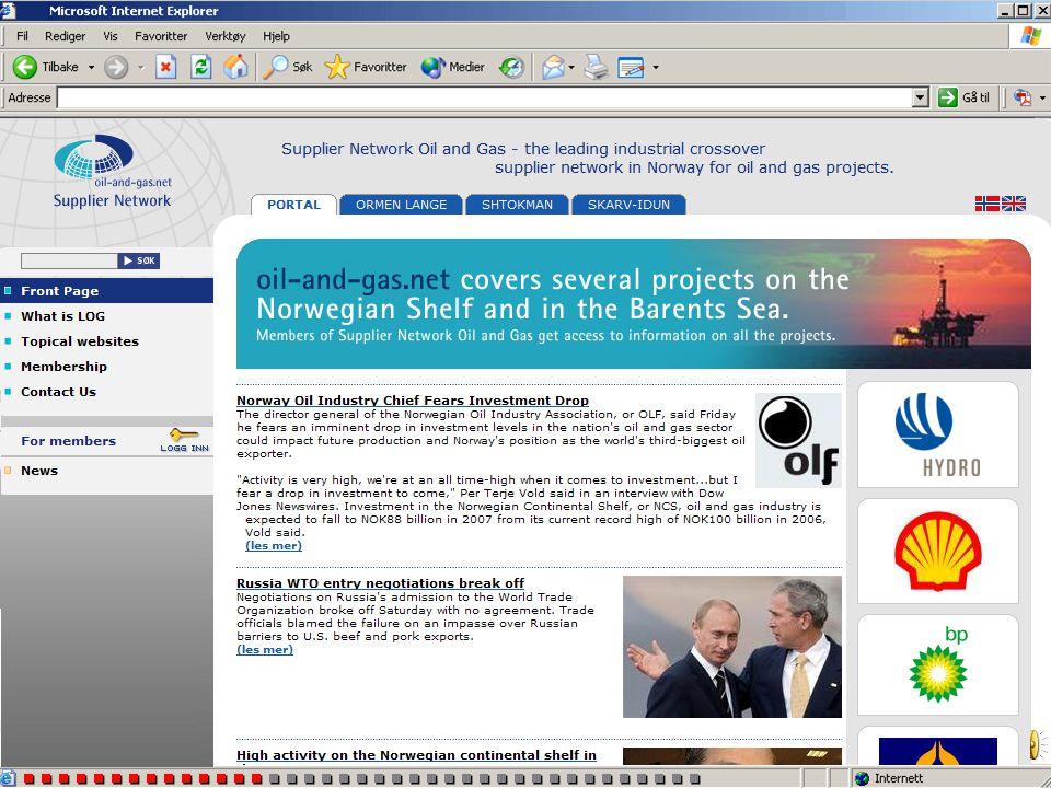 Prosjektnettstedene har også nyheter på engelsk språk. Skift språk ved å klikke på flaggene øverst til høyre i skjermbildet Prosjektnettstedene har og