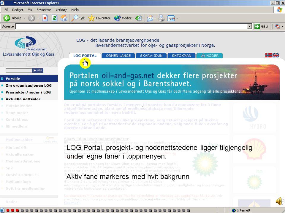 www.oil-and-gas.net •Portalen består av flere prosjektnettsteder og noder (regionale leverandørnett) •Alle nettstedene har også egne web-adresser for