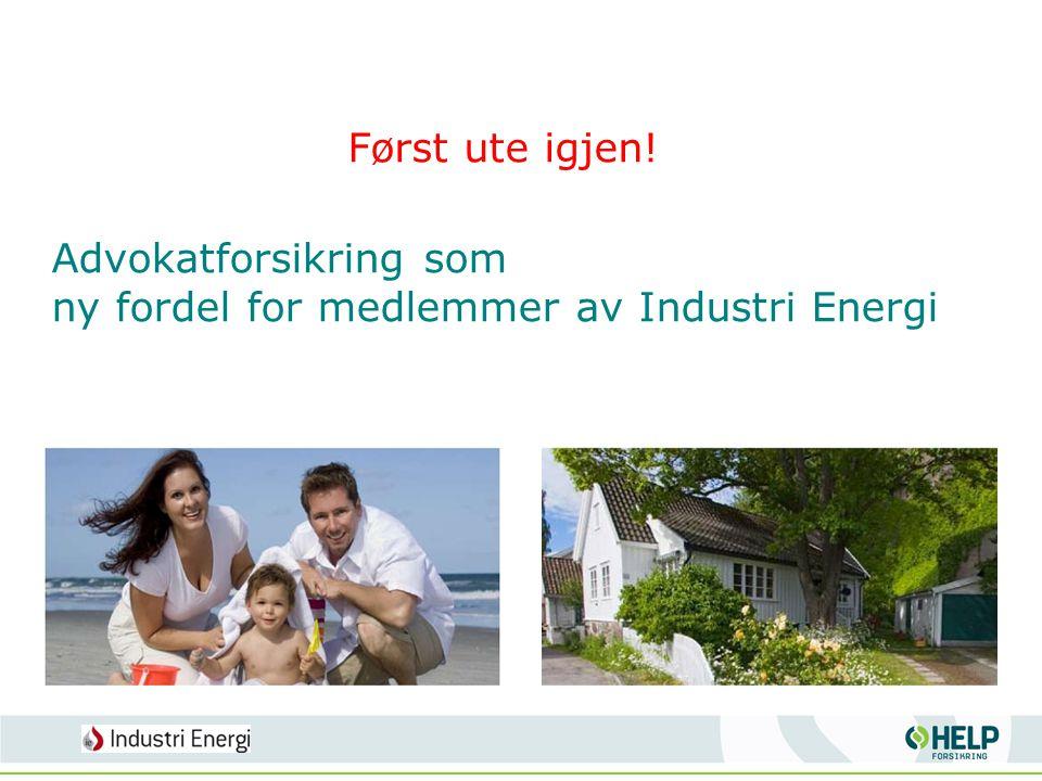 Advokatforsikring som ny fordel for medlemmer av Industri Energi Først ute igjen!