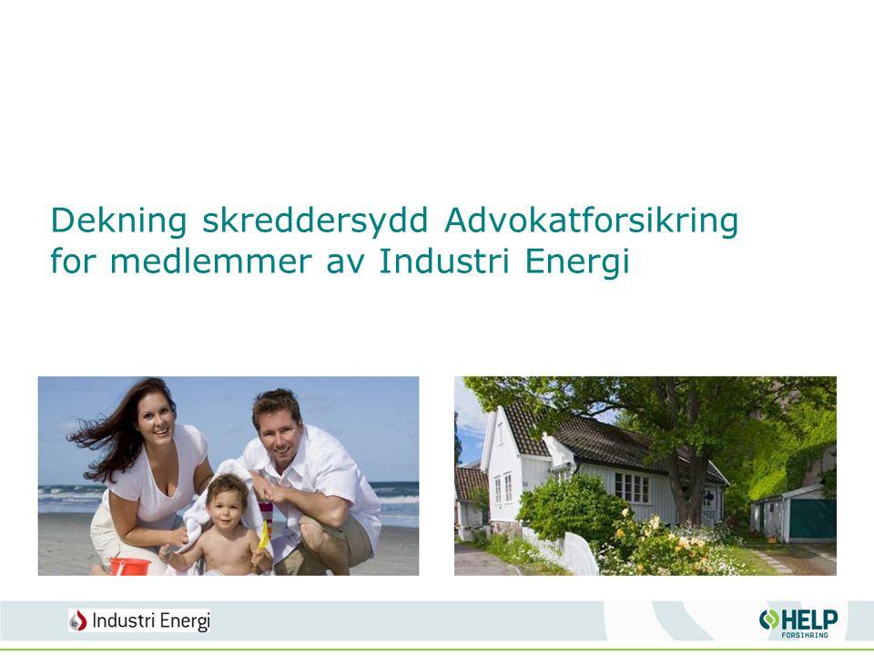 Dekning skreddersydd Advokatforsikring for medlemmer av Industri Energi