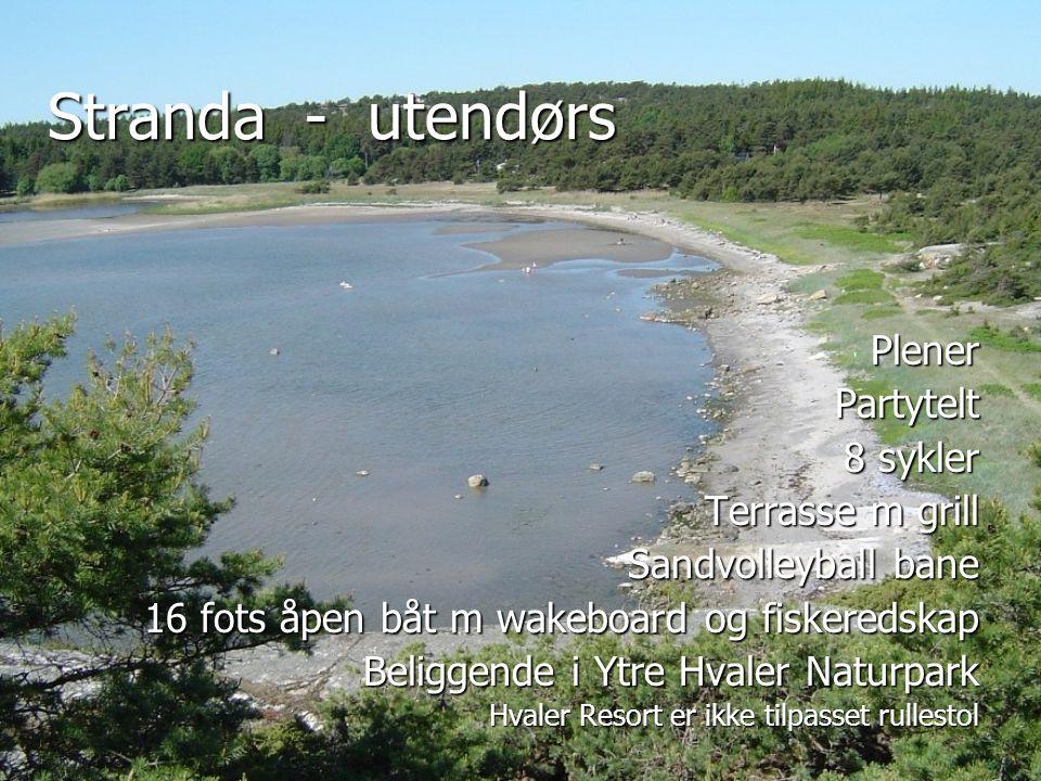 Stranda - utendørs PlenerPartytelt 8 sykler Terrasse m grill Sandvolleyball bane 16 fots åpen båt m wakeboard og fiskeredskap Beliggende i Ytre Hvaler