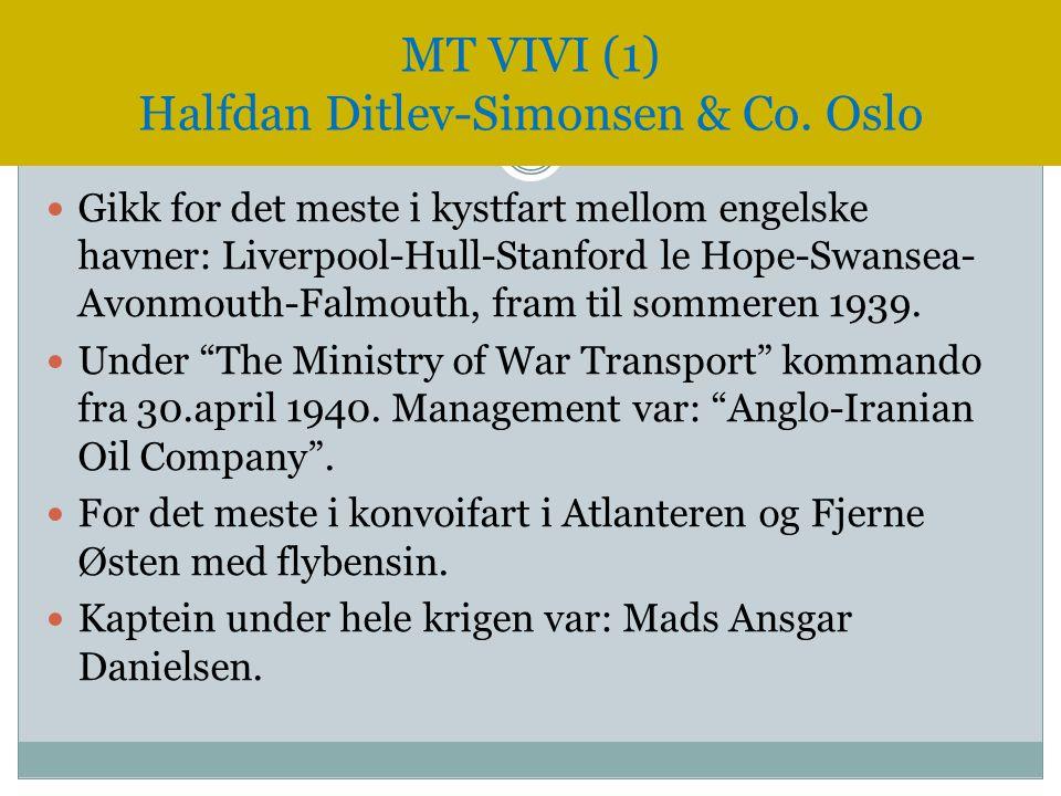 """ Gikk for det meste i kystfart mellom engelske havner: Liverpool-Hull-Stanford le Hope-Swansea- Avonmouth-Falmouth, fram til sommeren 1939.  Under """""""