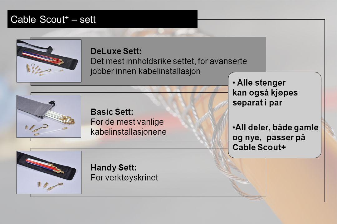 Cable Scout + – tilbehør Visp: gjør det enkelt å føre stengene over ujevnt overflater.
