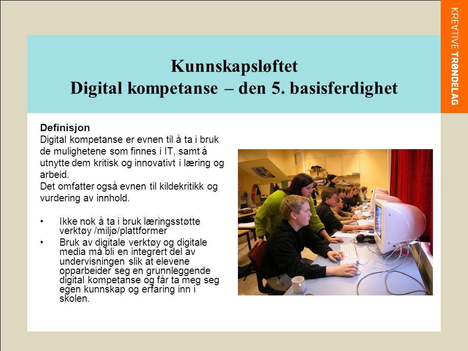 Kunnskapsløftet Digital kompetanse – den 5.