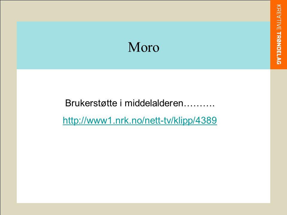 Moro Brukerstøtte i middelalderen………. http://www1.nrk.no/nett-tv/klipp/4389
