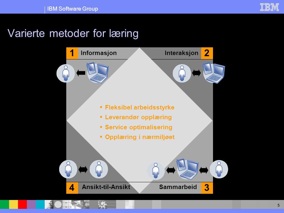 5 Varierte metoder for læring Ansikt-til-AnsiktSammarbeid InteraksjonInformasjon 12 34  Fleksibel arbeidsstyrke  Leverandør opplæring  Service optimalisering  Opplæring i nærmiljøet