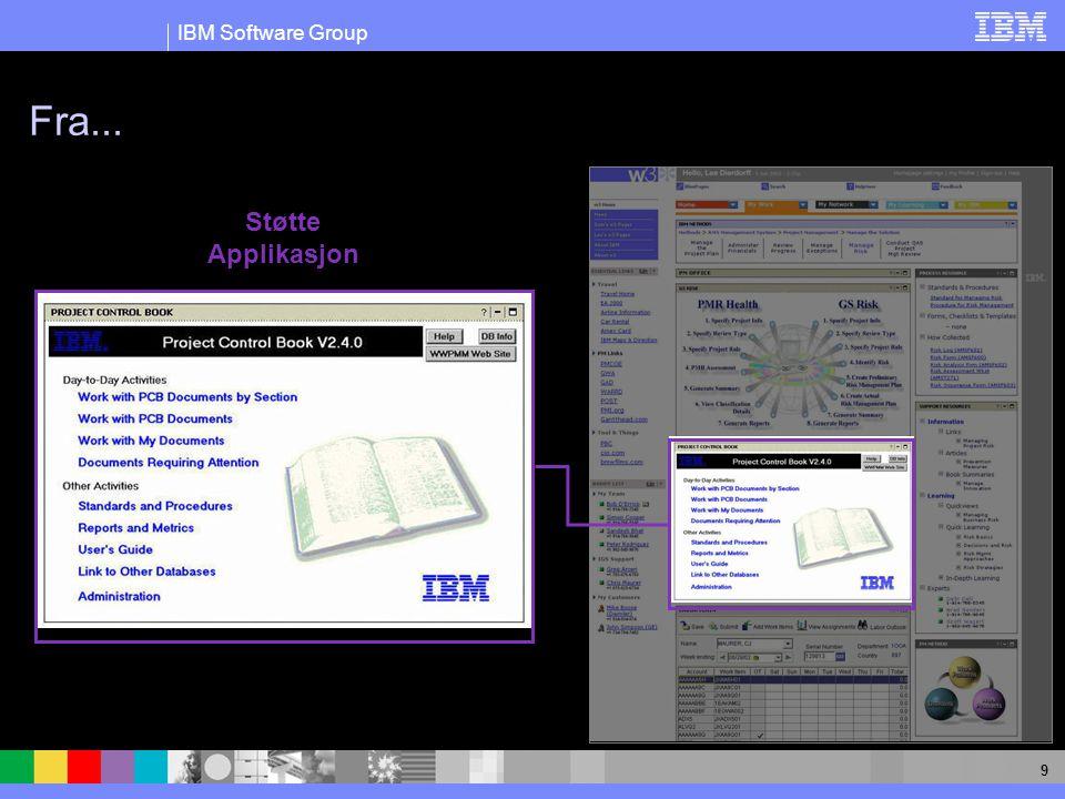 IBM Software Group 9 Fra... Støtte Applikasjon