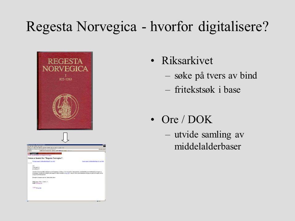 Regesta Norvegica - hvorfor digitalisere.