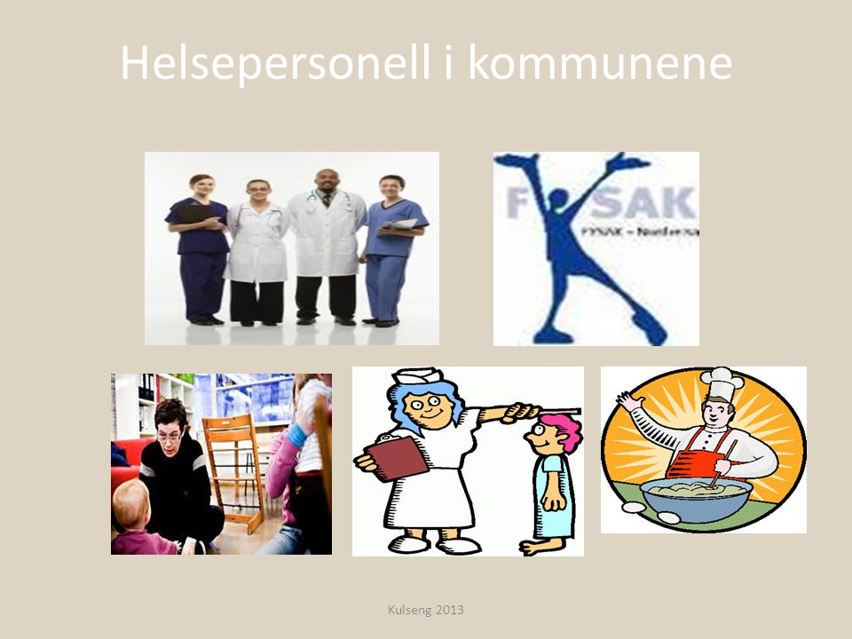 Helsepersonell i kommunene Kulseng 2013