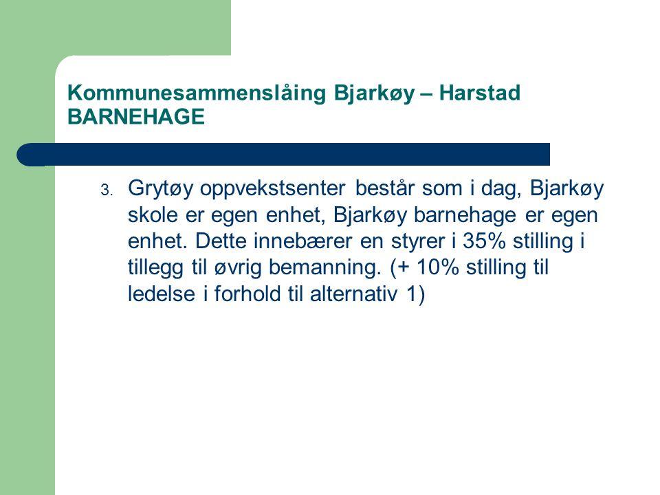 Kommunesammenslåing Bjarkøy – Harstad BARNEHAGE 3.
