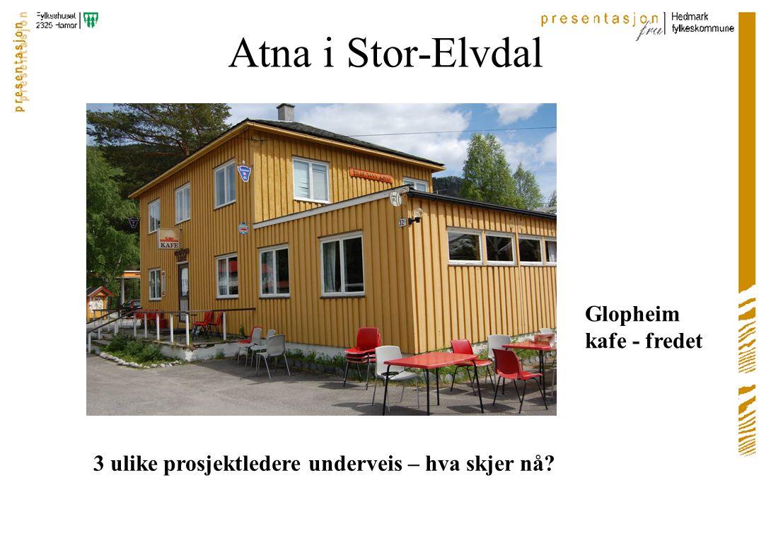 Atna i Stor-Elvdal 3 ulike prosjektledere underveis – hva skjer nå Glopheim kafe - fredet