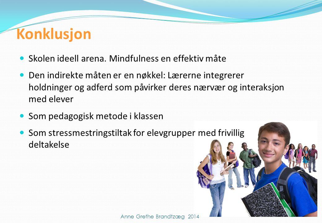  Skolen ideell arena. Mindfulness en effektiv måte  Den indirekte måten er en nøkkel: Lærerne integrerer holdninger og adferd som påvirker deres nær