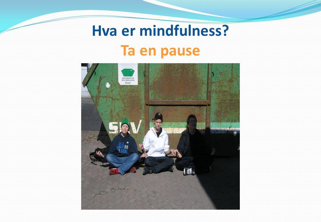 Hva er mindfulness? Ta en pause