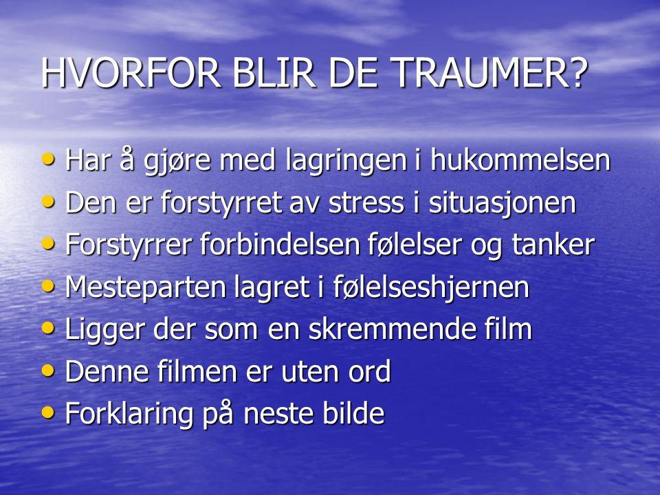 HVORFOR BLIR DE TRAUMER.