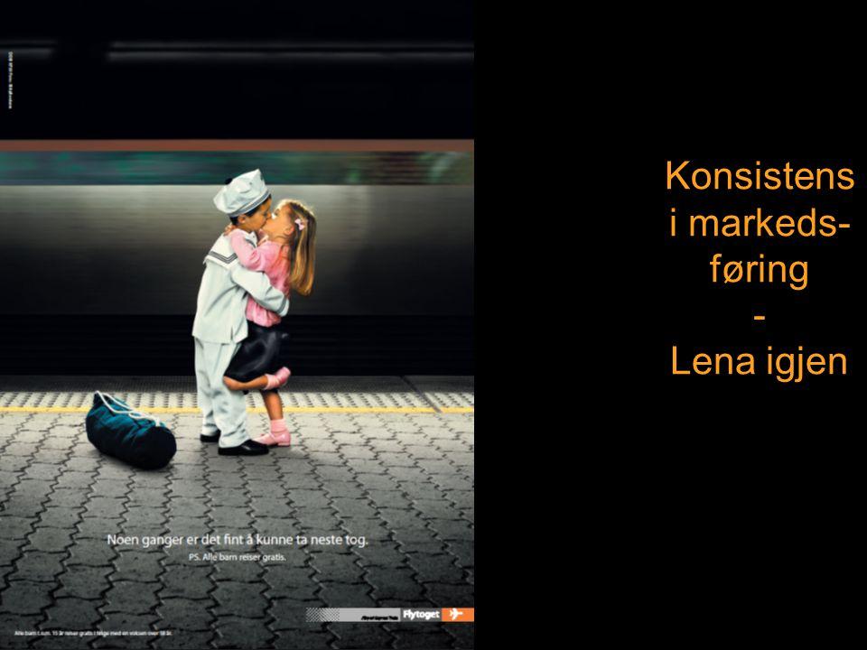 Konsistens i markeds- føring - Lena igjen