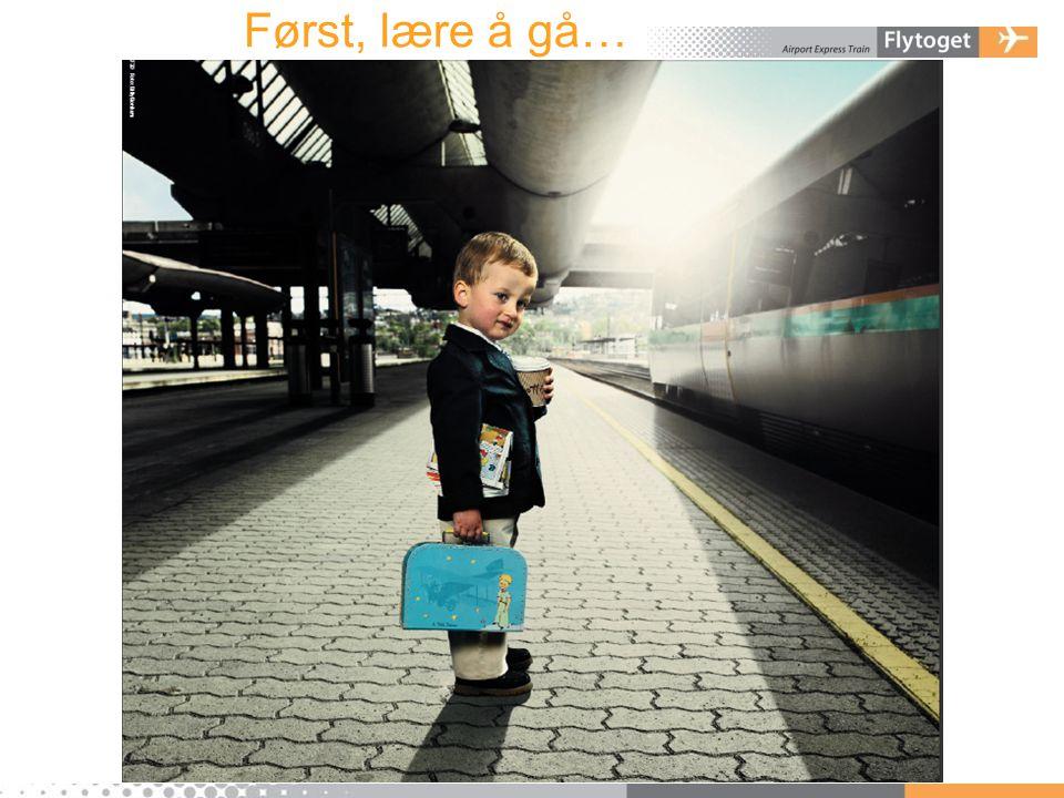 Først, lære å gå…