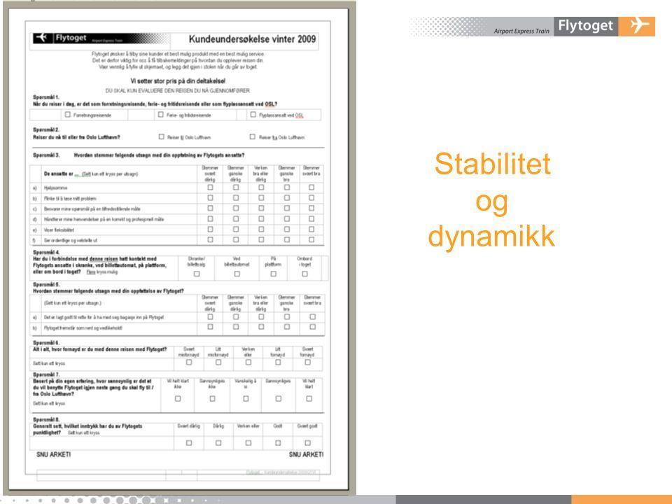 Stabilitet og dynamikk