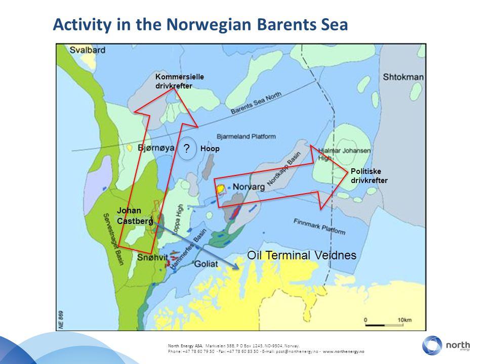 North Energy ASA, Markveien 38B, P O Box 1243, NO-9504, Norway. Phone: +47 78 60 79 50 · Fax: +47 78 60 83 50 · E-mail: post@northenergy.no · www.nort