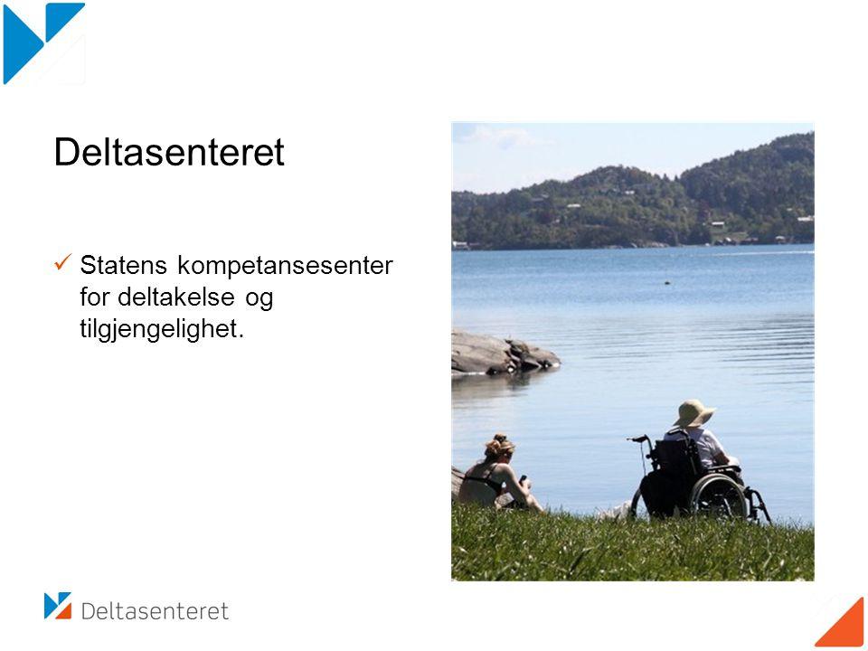 Deltasenteret  Statens kompetansesenter for deltakelse og tilgjengelighet.